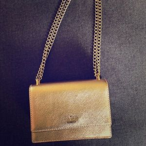 Kate Spade Rose Gold Chain Detail Crossbody